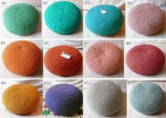 Pouf Crochet small  last available by lacasadecoto on Etsy use as pillow on couch or on floor
