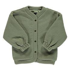 Wool and Organic Cotton Jacket Green Monkind Fashion Children