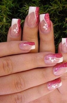 Super nails art green awesome - Super nails art green awesome Ideas The Effective Pictures We Offer You About nail art gel A quali - Fancy Nails, Trendy Nails, Pink Nails, Gel Nails, Toenails, Gel Nail Designs, Cute Nail Designs, Fabulous Nails, Gorgeous Nails