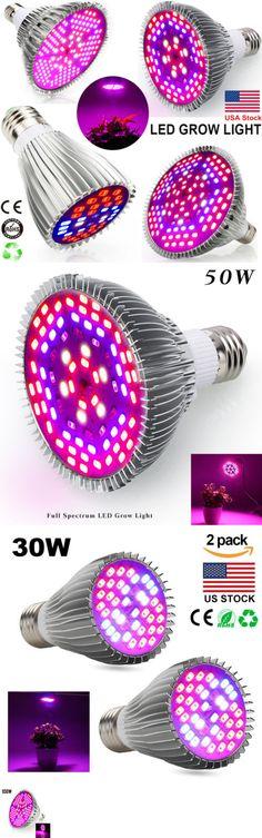 Grow Light Bulbs 178988: E27 Led Grow Light 30 50 80 100W Lamp Bulb Full Spectrum For Hydroponic Plant Us -> BUY IT NOW ONLY: $19.98 on #eBay #light #bulbs #spectrum #hydroponic #plant Grow Light Bulbs, Led Grow Lights, Hydroponic Plants, Hydroponics, Lamp Bulb, Spectrum, Ebay, Hydroponic Gardening, Aquaponics
