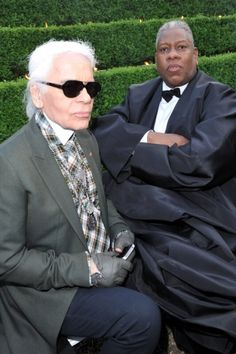 Karl Lagerfeld con Andre Leon Talley