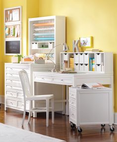 Make the most of unused space with this desk from the Martha Stewart Living Craft Space collection.
