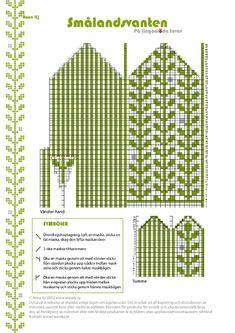 smndsvanten.page4 (494x700, 233Kb) Knitting Charts, Knitting Stitches, Knitting Needles, Hand Knitting, Knitting Patterns, Crochet Patterns, Knitted Mittens Pattern, Knit Mittens, Mitten Gloves