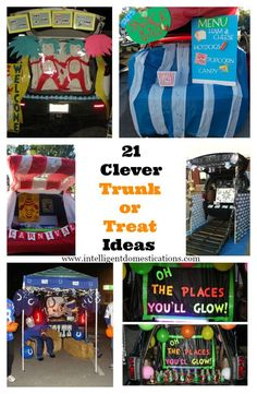 Trunk or Treat Decorating Ideas 21 Clever Trunk or Treat Ideas. Creative ideas for designing your Trunk or Treat for the Fall Festival at your Church or your Halloween Event. Trunk or Treat Desing Ideas anyone can do. Halloween Car Decorations, Fete Halloween, Holidays Halloween, Halloween Treats, Happy Halloween, Halloween Stuff, Preschool Halloween, Halloween Fashion, Halloween Activities