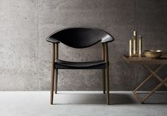 Metropolitan Chair LM92 in walnut by Ejner Larsen and Aksel Bender Madsen and Folding Table.jpg