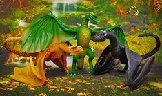 Poseable Art Dolls, Viserion, Rhaegal, Drogon by FellKunst on DeviantArt Game Of Thones, Cool Dragons, Game Of Thrones Fans, Mother Of Dragons, Worlds Largest, Art Dolls, Fantasy Art, Deviantart, Pets
