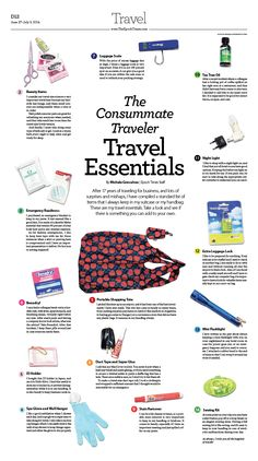 The Consummate Traveler – What's In My Bag? The Carry-On Essentials|Epoch Times #newspaper #editorialdesign