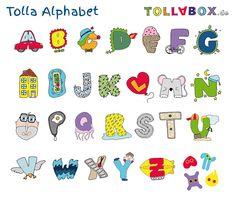 Das Tolla-Alphabet zum Ausdrucken, Ausmalen, Aufhängen
