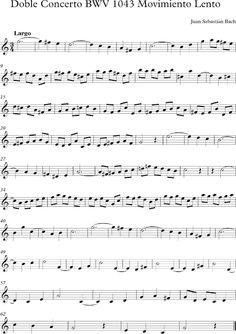 Movimiento Lento del Concierto 1043 de Bach