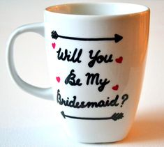 Will You Be My Bridesmaid Coffee Mug  Wedding by DreamAndCraft