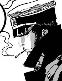 Corto Maltese is a series featuring a sailor-adventurer by comic book creator Hugo Pratt Lucky Luke, Bd Comics, Manga Comics, Maltese, Hugo Pratt, Bd Art, Black And White Cartoon, Book Creator, Comic Artist