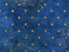 Il cielo stellato di Giotto nel soffitto della Cappella degli Scrovegni, Padova, 1305.
