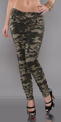 Resultado de imagen para pantalones camuflados para mujer 5c8ba253befe