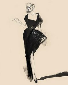 David Downton fashion effect women watercolor by Cittie.z, via Flickr