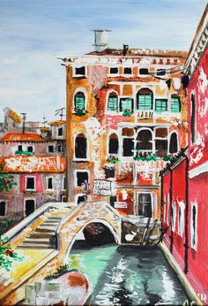 'Venice little bridge view' by Anna Sokolova on artflakes.com as poster or art print $17.74