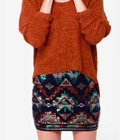 Sequins + Tribal Pattern= Love