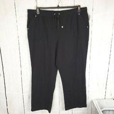New Womens Marks /& Spencer Black Bootleg Trousers Size 16 14 12 10 Long Med Shor
