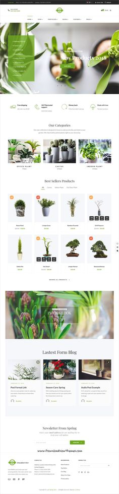 Spring Plants is a clean and modern design 21+ responsive multipurpose WooCommerce #WordPress #theme for sunning gardening, houseplants and fashion #store #eCommerce website to download & live preview click on image or Visit 🡽 #webdev