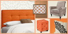 Save up to 70% on designer home furniture, lighting and decor in cheerfully chic taupe and kumquat.
