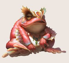 Toad by Yu Cheng Hong | Creatures | 2D | CGSociety
