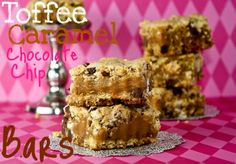 Toffee Caramel Choc Chip Bars