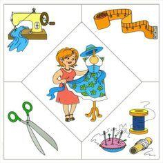 professions puzzle Preschool Jobs, Community Helpers Preschool, Teaching Kindergarten, Preschool Worksheets, Preschool Activities, Community Workers, Educational Activities For Kids, Classroom Rules, Toddler Learning