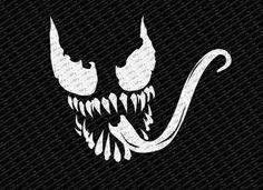 Spider-man Venom Logo Decal Sticker - Vinyl Decals - Venom Merchandise at 1up Collectibles