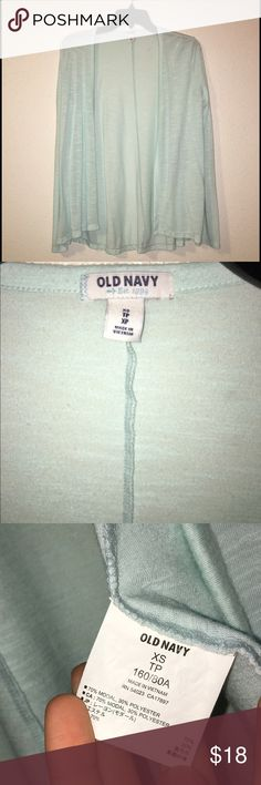 NWOT Old Navy Cardigan gorgeous light blue cardigan. It's long sleeve & great for winter or summer. No snags or stains. Old Navy Sweaters