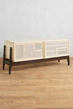 Patchwork Cane Console #anthropologie