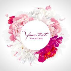 Beautiful peony flower vector background graphics - Vector Background free…