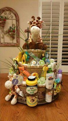 Jungle theme diaper basket