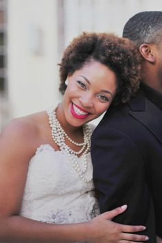 City Hall Chic: A Bridal Shoot With Stylish Newlyweds // Christa Elyce Photography: Twa bridal hair. Short hair style for wedding. Afro Hairstyles, Bride Hairstyles, Black Hairstyles, Hairstyle Ideas, Hair Ideas, Bridal Beauty, Bridal Hair, Bridal Shoot, Bridal Makeup
