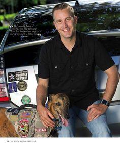 Karl, an Army veteran and his service dog, Hero.