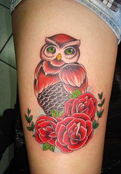 Tatuagens femininas de coruja - Fotos e Significados | Menina de Atitude