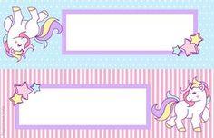 Unicórnio: Kit festa grátis para imprimir – Inspire sua Festa ® Unicorn Names, Unicorn Art, Magical Unicorn, Rainbow Unicorn, Book Labels, Printable Labels, Printable Stickers, Party Printables, School Name Labels