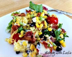 Cornbread Salad, I make this all the time.  It feeds a lot of people. Great to go along with BBQ!
