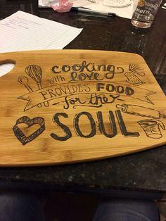 @mrschiz .. this design too much? Wood burning cutting board kitchen