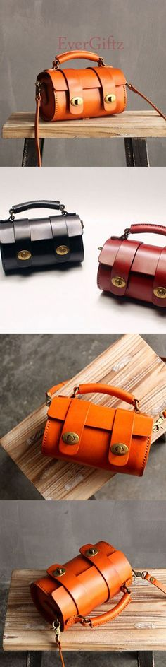Handmade leather vintage women handbag shoulder bag crossbody bag