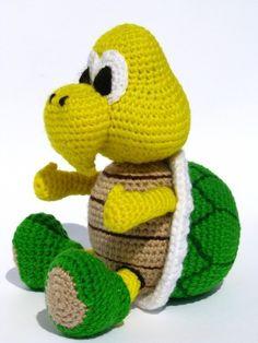 Koopa Troopa inspired doll - PDF amigurumi crochet pattern