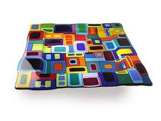 Fused Glass Wall Art | Fused Glass Plates - Helen Rudy Glass