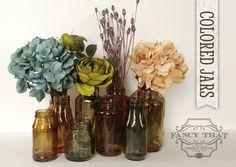 Color Tinted Glass Jars