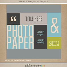 Quality DigiScrap Freebies: Template freebie from Sahlin Studio