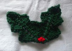 Knitted Holly Leaves - DK