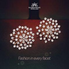 Buy Earrings Online Diamond Bloom 3 1 Detachable Studs from Kameswari Jewellers Diamond Earrings Indian, Diamond Earing, Diamond Bangle, Diamond Jewelry, Diamond Studs, Diamond Earrings Designs, Diamond Necklaces, Diamond Pendant, Black Diamond