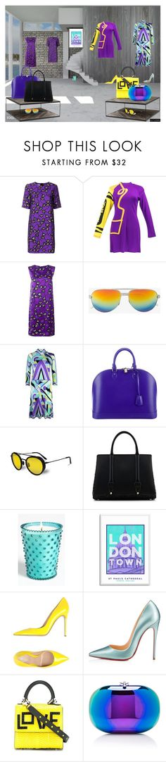 """14/3"" by matadoraa ❤ liked on Polyvore featuring Marni, Yves Saint Laurent, Emilio Pucci, Louis Vuitton, Vuarnet, La Perla, Simpatico, Gianvito Rossi, Christian Louboutin and Les Petits Joueurs"