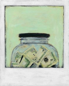 A Little Bit of Money, 8x10, Acrylic and Charcoal Pencil on Canvas 2015 Gabe Langholtz
