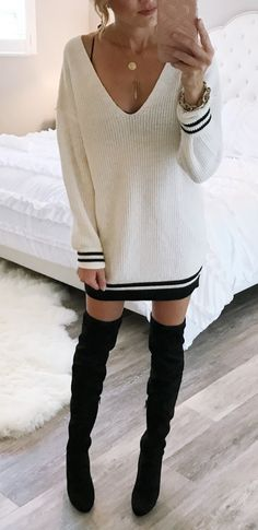 black and white pullover/sweater