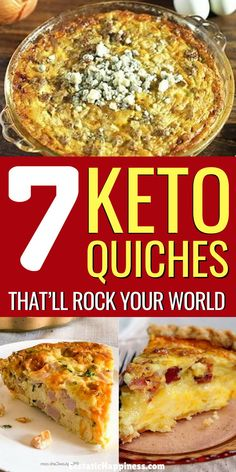 These Keto Quiche Lorraine Keto Quiche with Bacon & Spinach Keto Quiche with Sausage Crustless Keto Quiche and many more will blow your taste buds away. The Best low carb Keto Quiche Recipes ever period! Keto Quiche, Low Carb Quiche, Crustless Quiche Lorraine, Gluten Free Quiche, Keto Egg Recipe, Easy Quiche, Ketogenic Recipes, Low Carb Recipes, Gastronomia