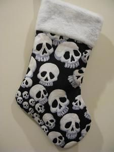 $20.00 Skull Christmas Stocking