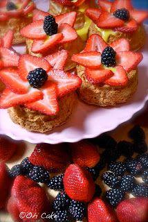 Oh Cake: Berrylove ~ Flower Berry Angel Food Baskets
